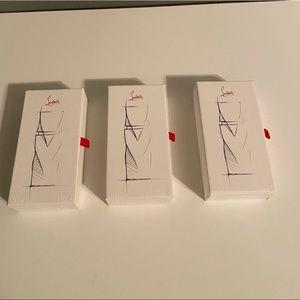 Christian Louboutin (keychain, parfumes, card set)